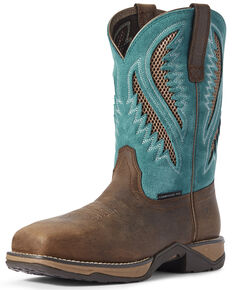 Ariat Women's Anthem VentTEK Western Boots - Composite Toe, Brown, hi-res