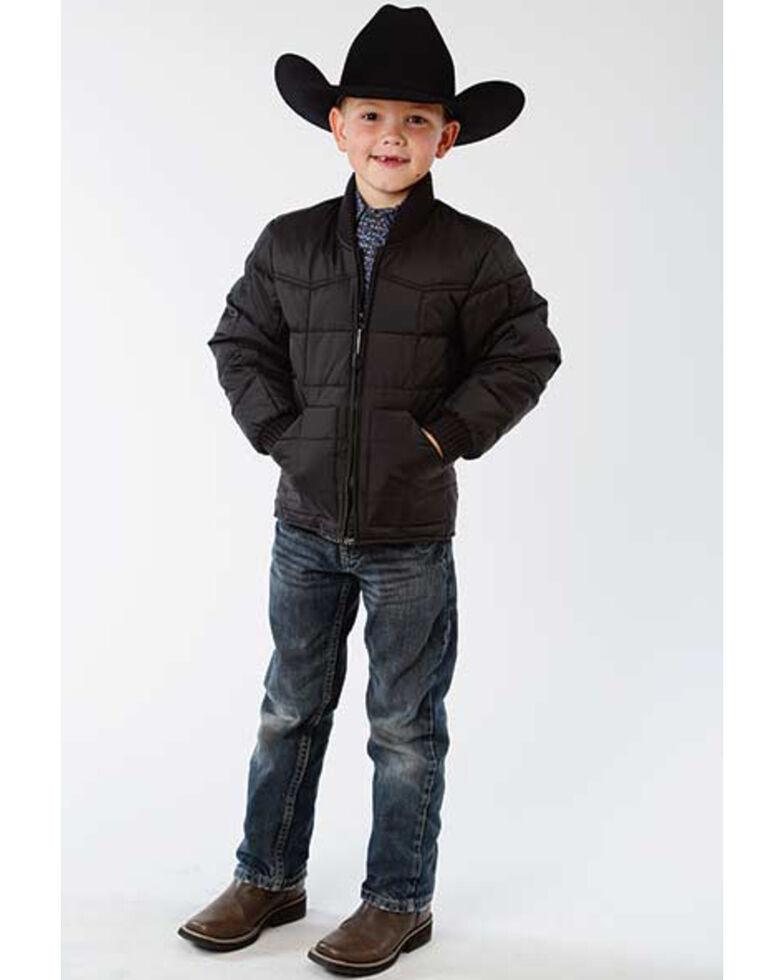 Roper Boys' Black Rangewear Poly Fill Down Jacket , Black, hi-res