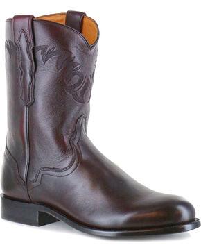 El Dorado Men's Round Toe Western Boots, Black Cherry, hi-res