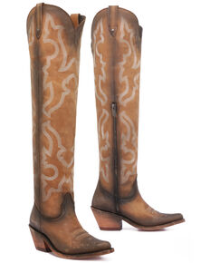 Liberty Black Women's Vegas Faggio Tall Boots - Round Toe, Tan, hi-res