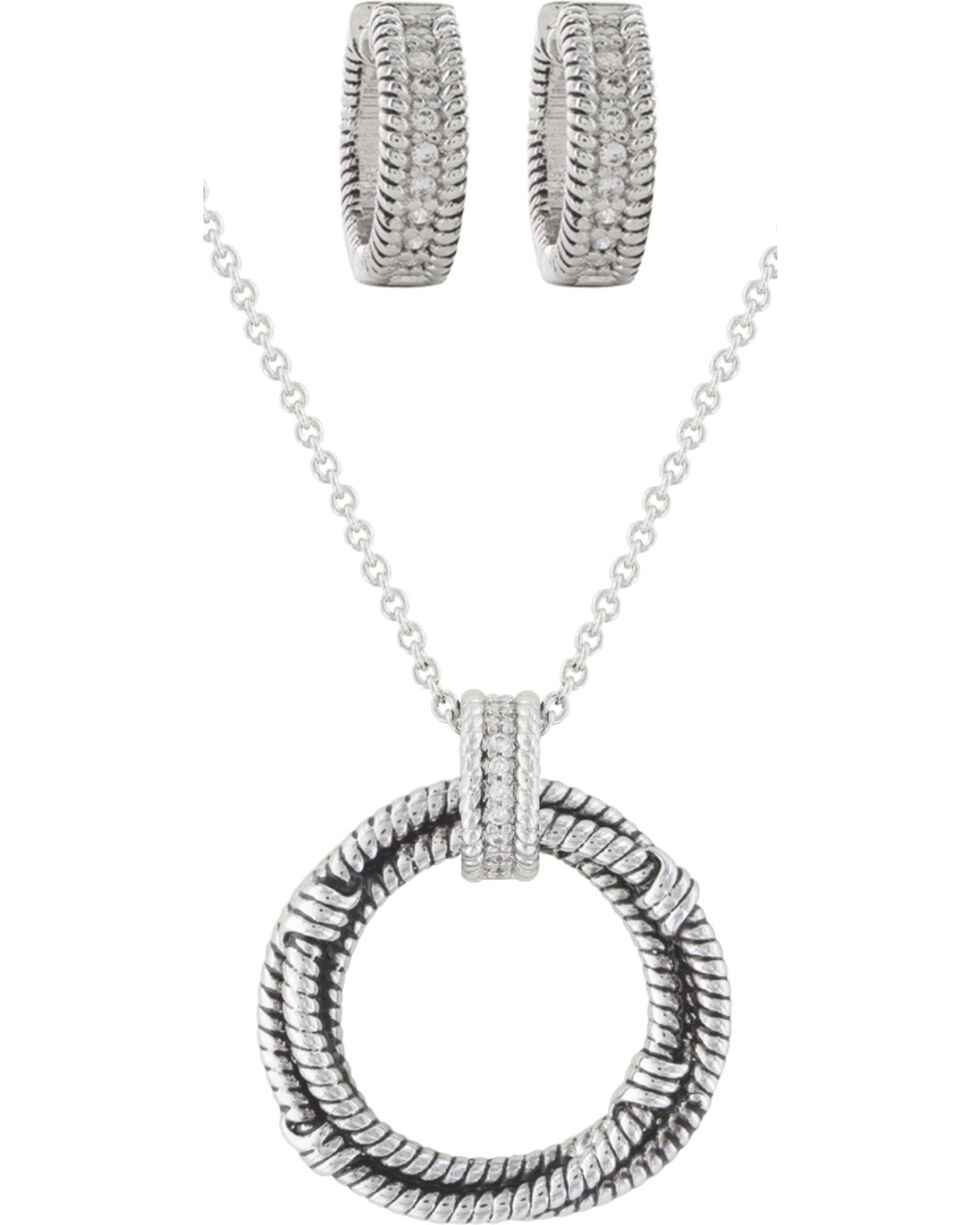 Montana Silversmiths Roped in Brilliance Jewelry Set, Silver, hi-res
