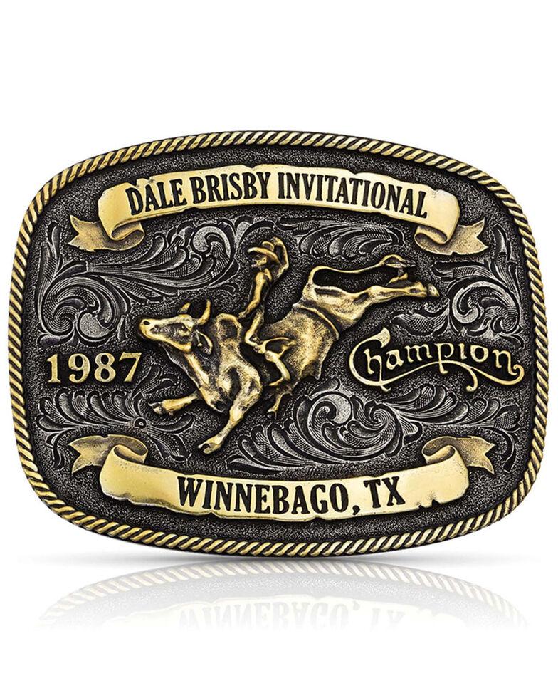 Montana Silversmiths Men's Dale Brisby Invitational 1987 Trophy Buckle, Bronze, hi-res