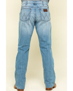 Wrangler Retro Men's Round Top Light Stretch Relaxed Bootcut Jeans , Blue, hi-res