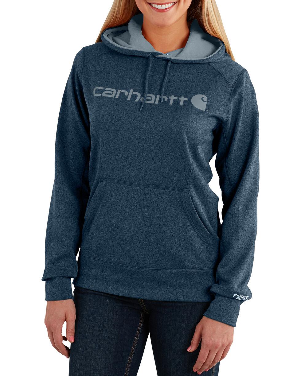 Carhartt Extremes® Women's Force Signature Graphic Hooded Sweatshirt, Dark Grey, hi-res