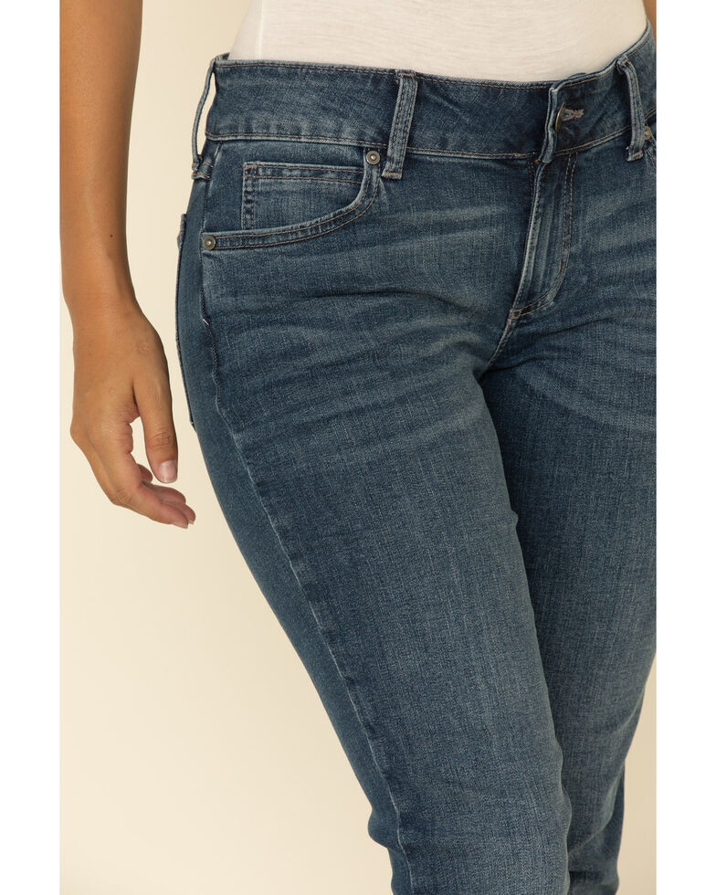 Wrangler Women's Essentials Madelyn Straight Jeans , Blue, hi-res