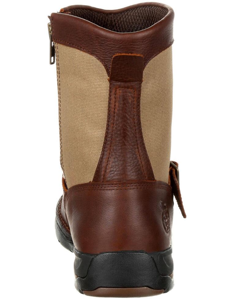 Georgia Boot Men's Athens Waterproof Side-Zip Work Boots - Moc Toe, Brown, hi-res
