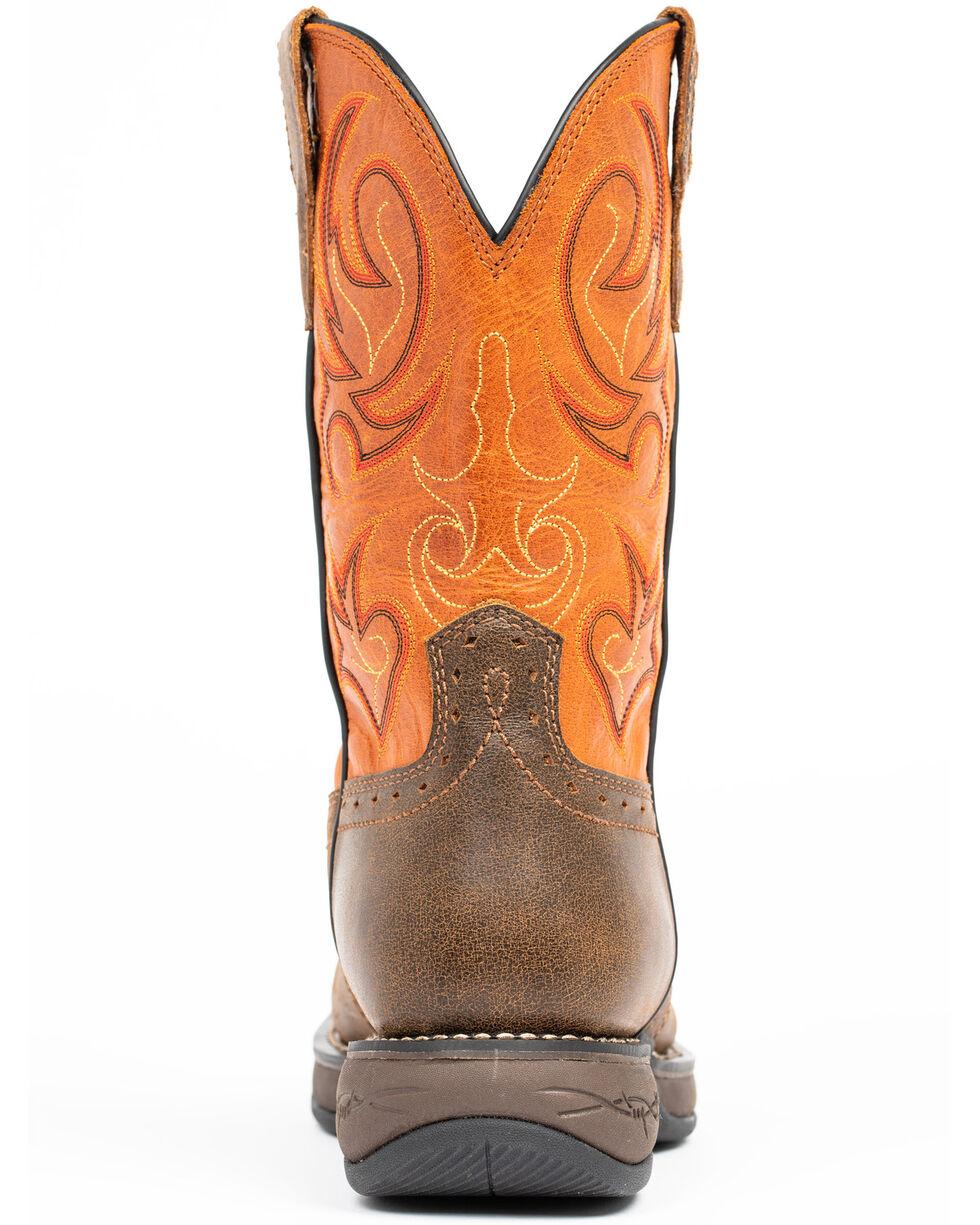 Cody James Men's Nano Lite Western Boots - Composite Toe, Orange, hi-res