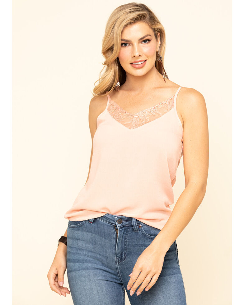 Idyllwind Women's Gone Wild Cami, Coral, hi-res