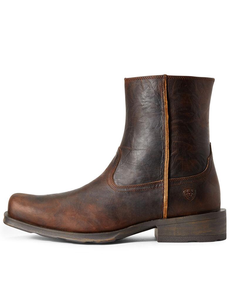 Ariat Men's Western Rambler Boots - Square Toe, Brown, hi-res