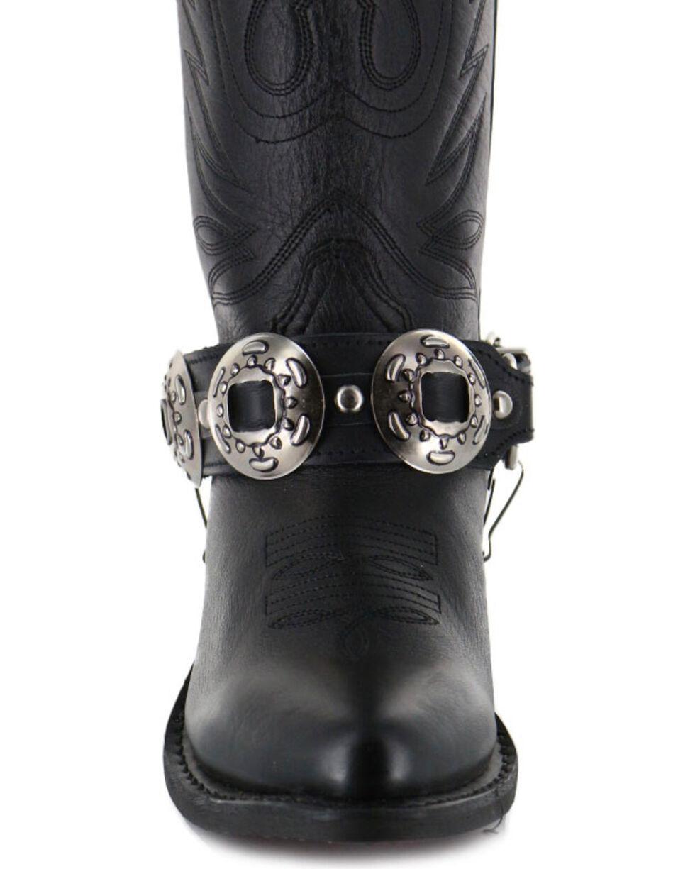 Almax Women's Studded Leather Boot Bracelet, Black, hi-res