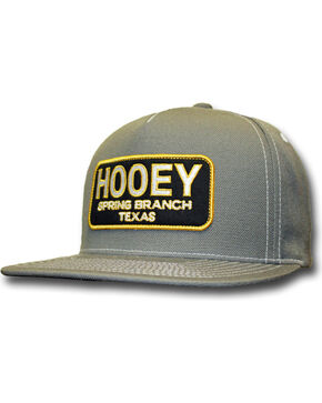 HOOey Men's Hometown Adjustable Snapback Ball Cap, Grey, hi-res