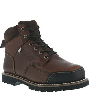 Iron Age Men's Dozer Met Guard Work Boots - Steel Toe , Brown, hi-res