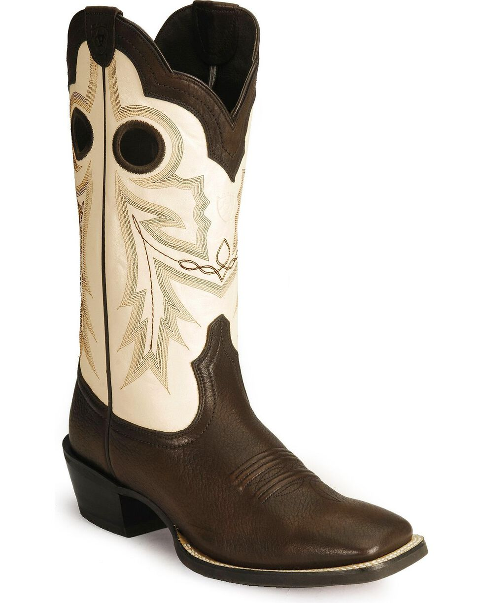 Ariat Men's Wild Stock Western Boots, Chocolate, hi-res