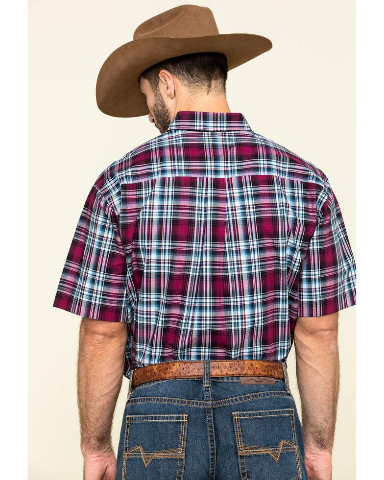 Cinch Men's Multi Plaid Plain Weave Short Sleeve Western Shirt , Multi, hi-res