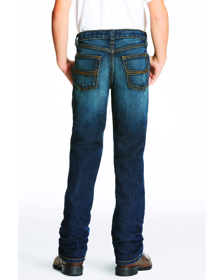 Ariat Boys' B5 Durham Slim Straight Jeans , Indigo, hi-res