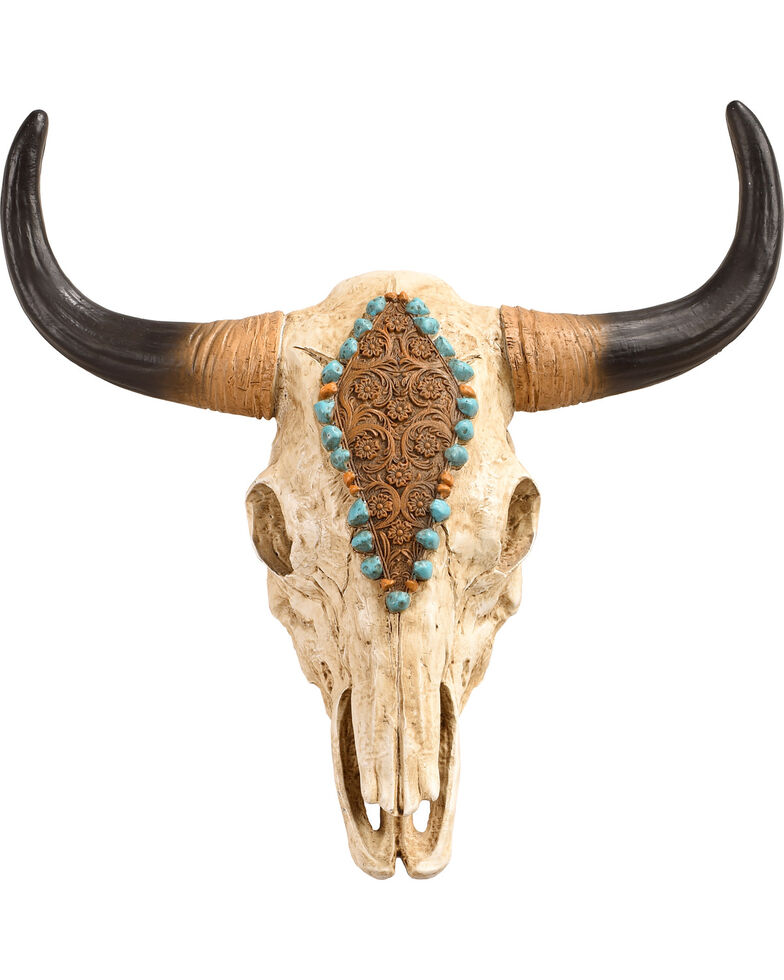 Bb Ranch Painted Cow Skull Wall Decor No Color Hi Res
