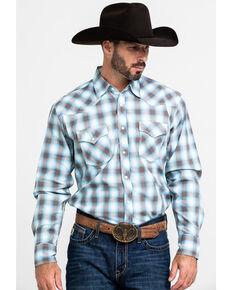 Wrangler 20X Men's Advanced Comfort Brown Plaid Long Sleeve Western Shirt , Brown, hi-res