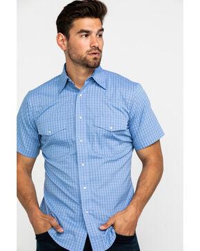 Wrangler Men's Wrinkle Resist Check Plaid Long Sleeve Western Shirt , Purple, hi-res