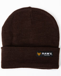 Hawx Men's Brown Logo Bar Beanie, Brown, hi-res