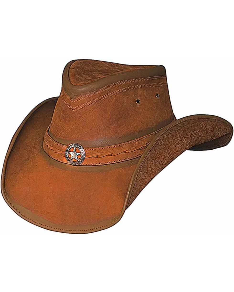 Bullhide Cooper Creek Leather Hat, Honey, hi-res