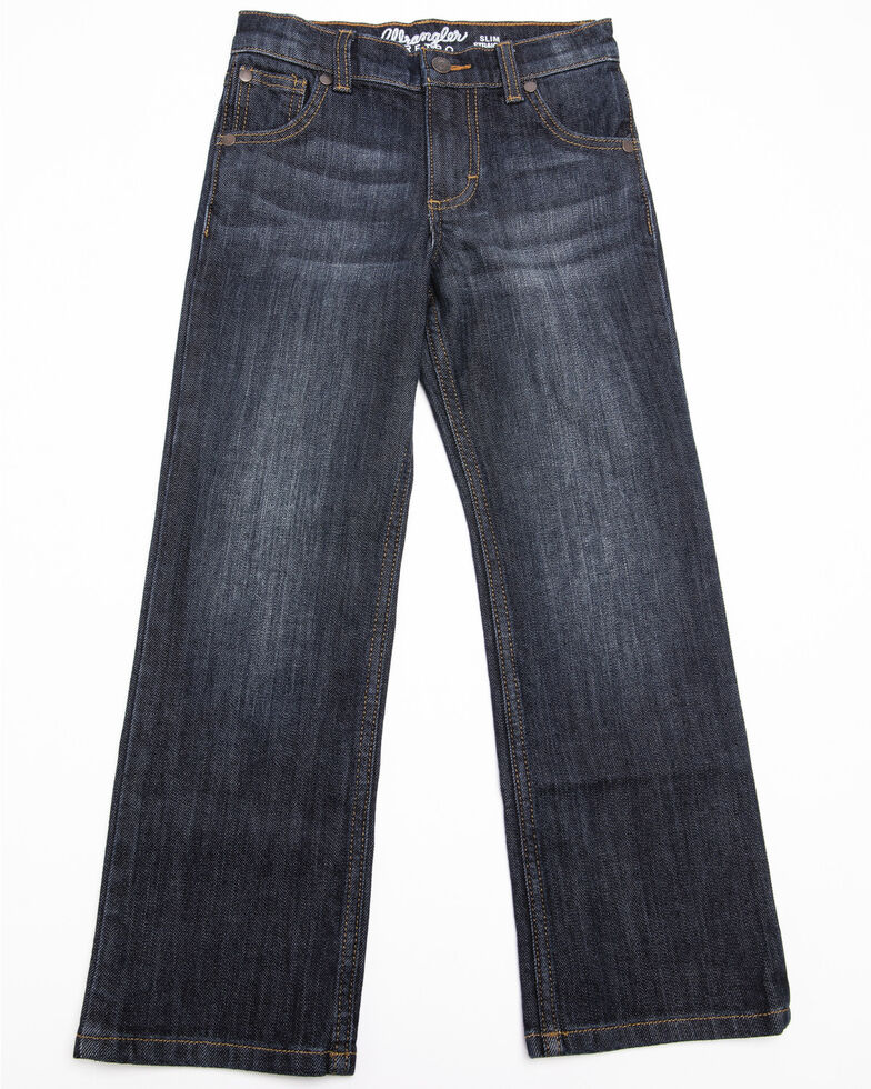 Wrangler Retro Boys' Anders Relaxed Bootcut Jeans , Blue, hi-res