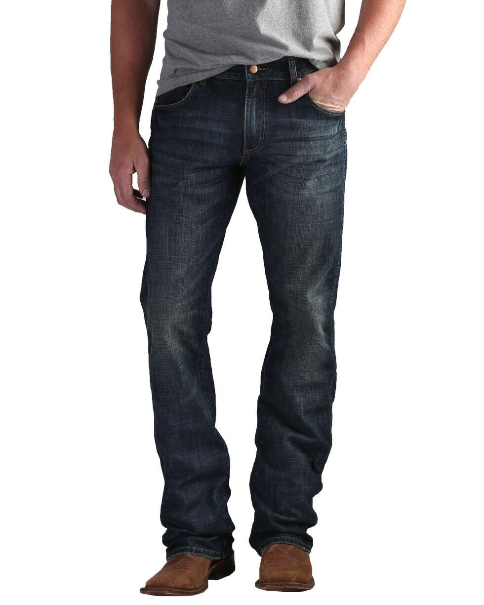 Wrangler Retro Men's Premium Slim Boot Jeans , Blue, hi-res