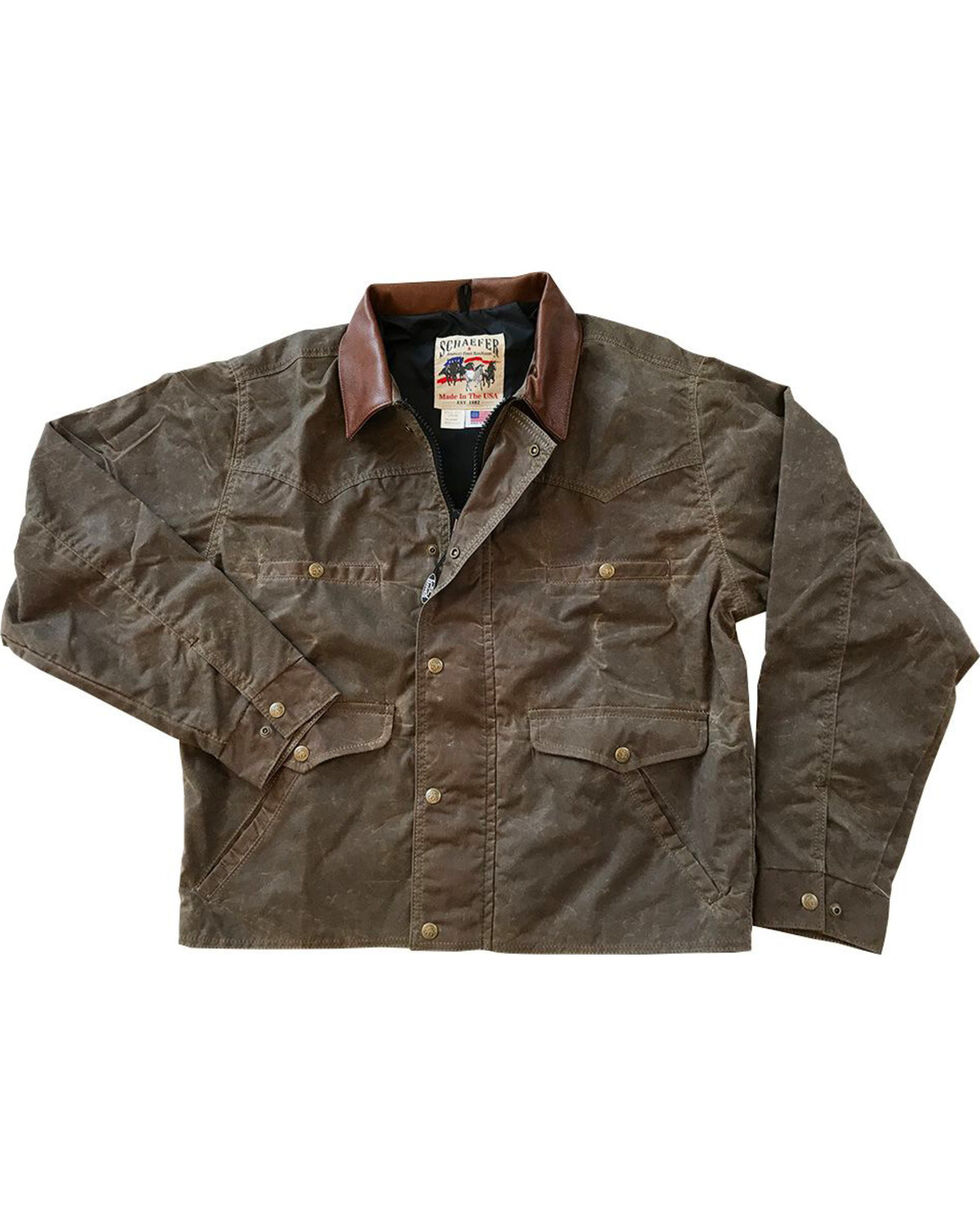 Schaefer Outfitter Men's Oak Rangewax Summit Jacket, Distressed Brown, hi-res