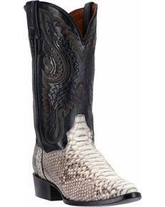 Dan Post Men's Omaha Python Western Boots, Natural, hi-res