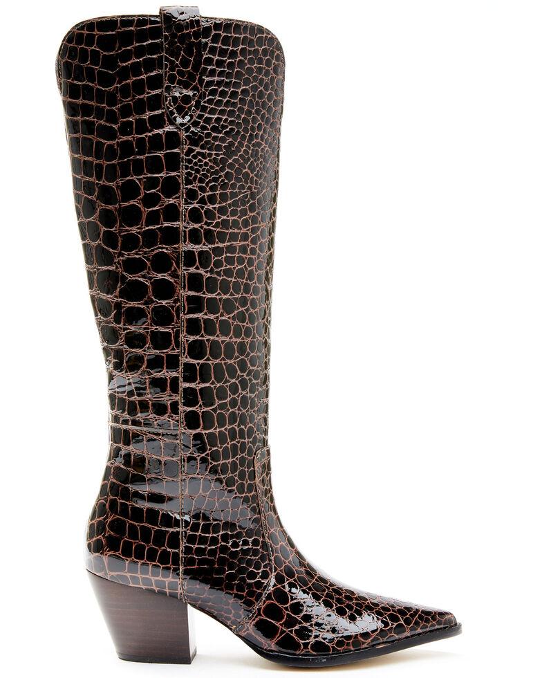 Matisse Women's Stella Western Boots - Snip Toe, Chocolate, hi-res