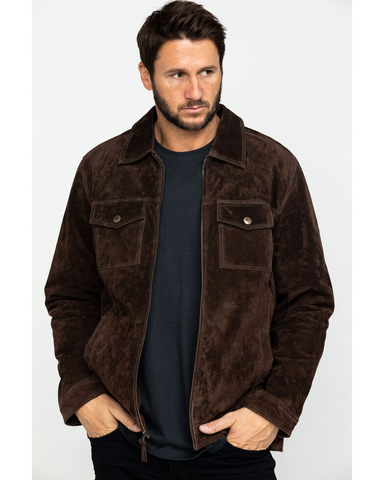 Moonshine Spirit Men's Roadie Suede Jacket , Brown, hi-res