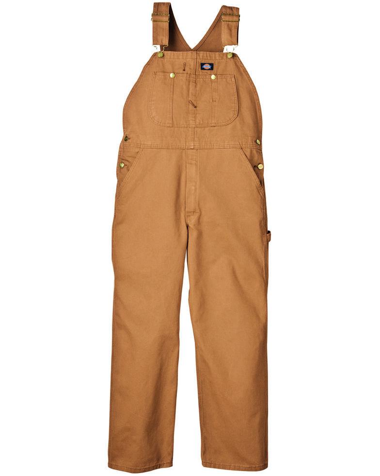 Dickies Duck Bib Overalls - Big & Tall, Brown Duck, hi-res