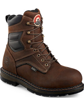"Red Wing Irish Setter Ramsey 8"" Work Boots - Aluminum Toe , Brown, hi-res"
