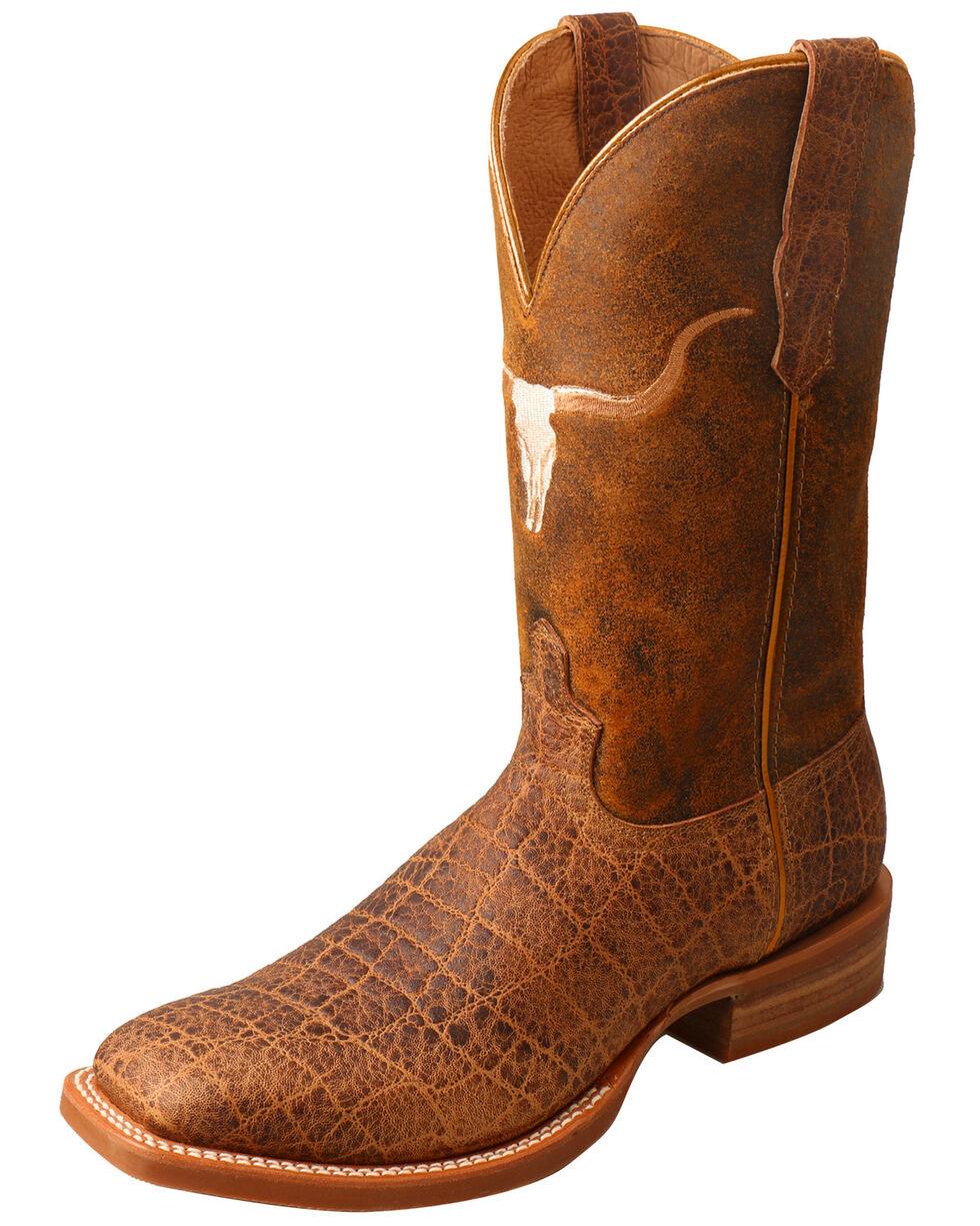 Twisted X Men's Rancher Elephant Print Cowboy Boots - Square Toe, Brown, hi-res