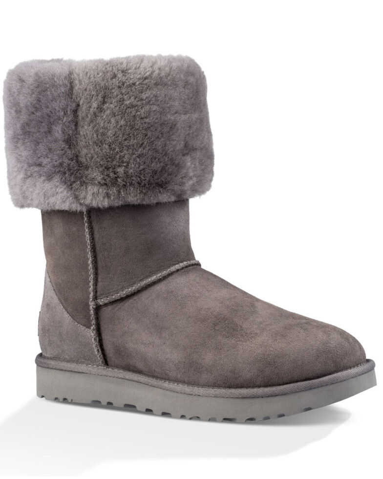 UGG Women's Grey Classic Tall Boots, Grey, hi-res