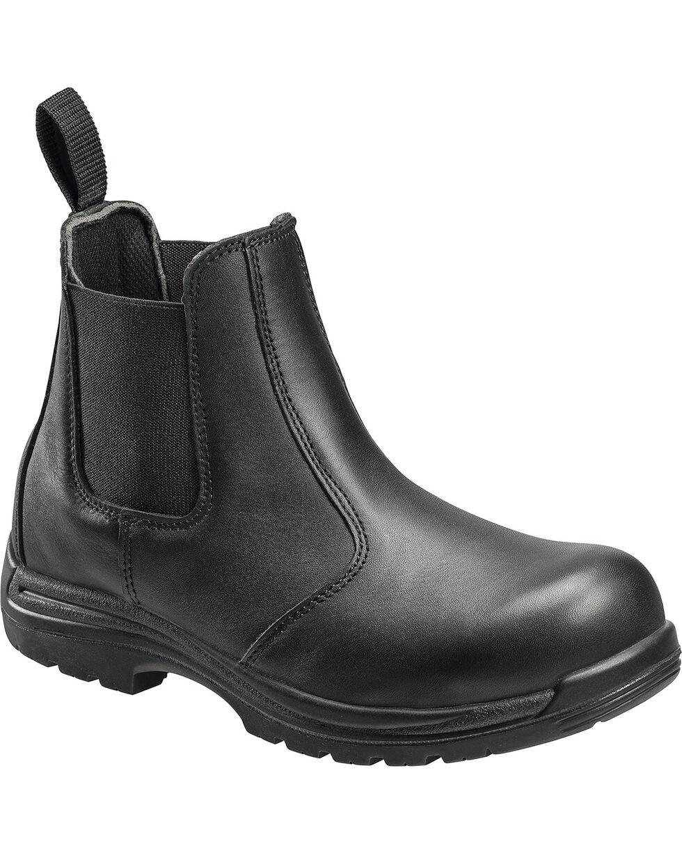 Avenger 7408 Leather Comp Toe Slip on EH Work Shoe, Black, hi-res