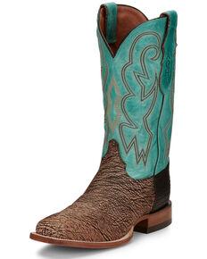 Justin Men's Mingus Wheat Western Boots - Square Toe, Tan, hi-res