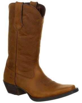 Durango Women's Full-Grain Leather Western Boots - Narrow Square Toe, Distressed Brown, hi-res