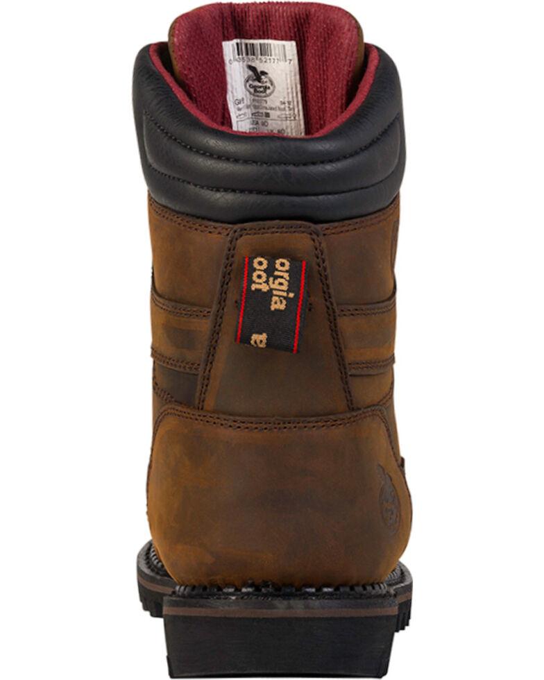 Georgia Boot Men's Arctic Toe Waterproof Insulated Work Boots - Soft Toe, Brown, hi-res