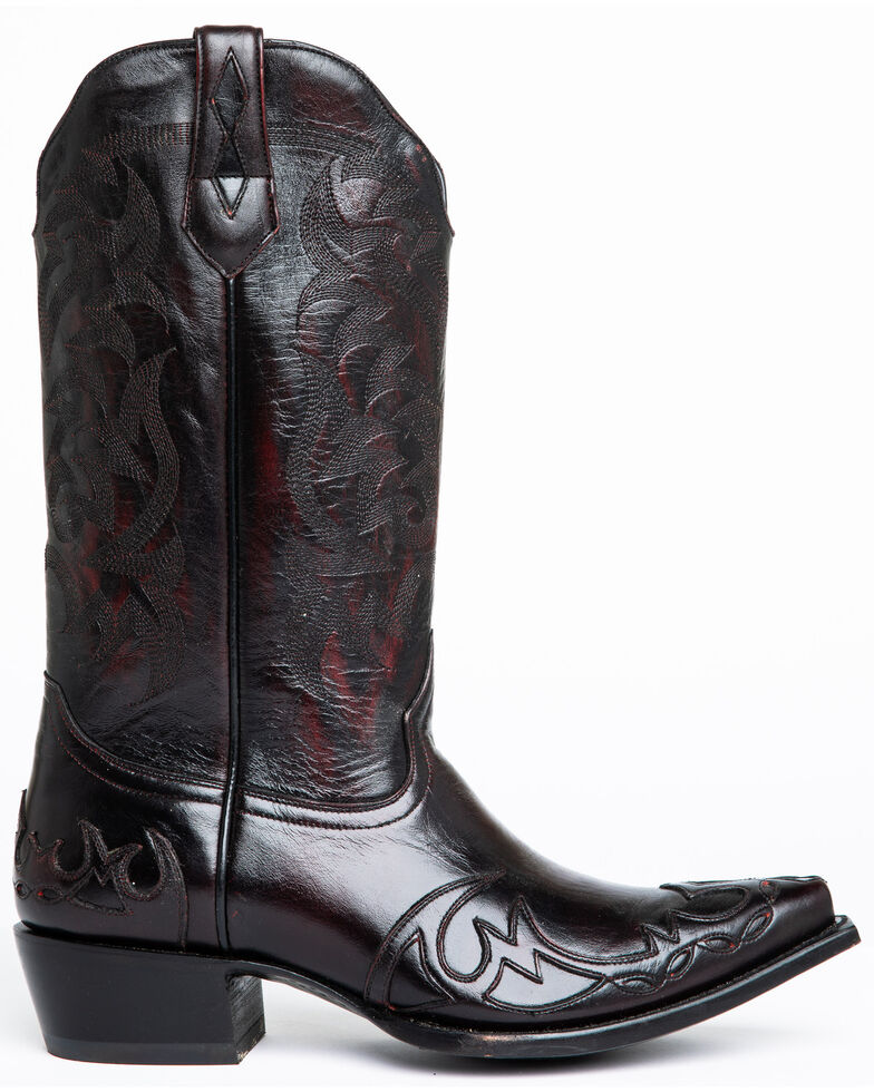 Moonshine Spirit Men's Vibrato Western Boots - Snip Toe, Black Cherry, hi-res
