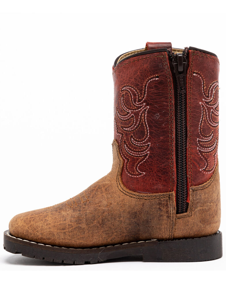 Cody James Toddler Boys' Red Top Western Boots - Square Toe, Red/brown, hi-res