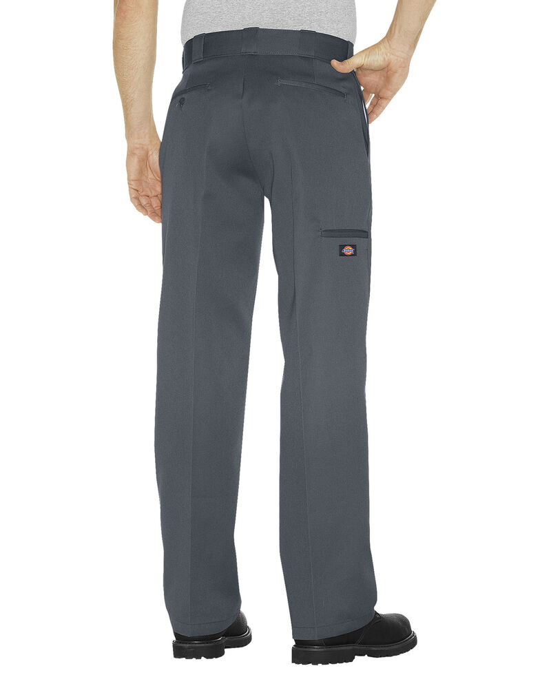 Dickies  Loose Fit Double Knee Work Pants - Big & Tall, Charcoal Grey, hi-res