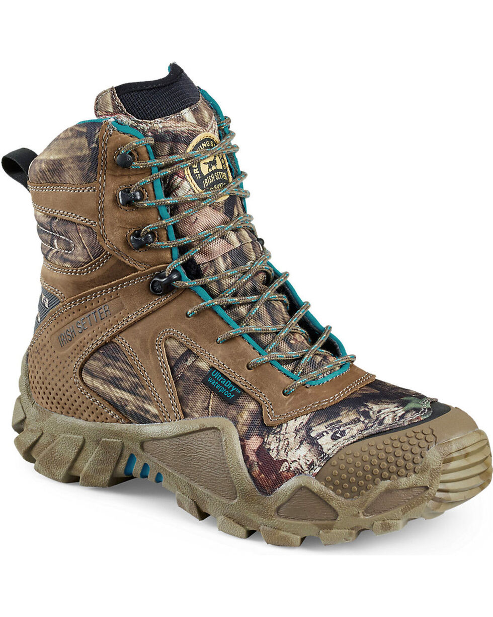 """Irish Setter by Red Wing Shoes Women's Mossy Oak Vaprtrek Insulated Waterproof 8"""" Boots, Camouflage, hi-res"""