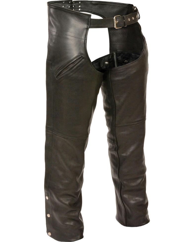 Milwaukee Leather Men's Slash Pocket Thermal Liner Chaps - 5X, Black, hi-res