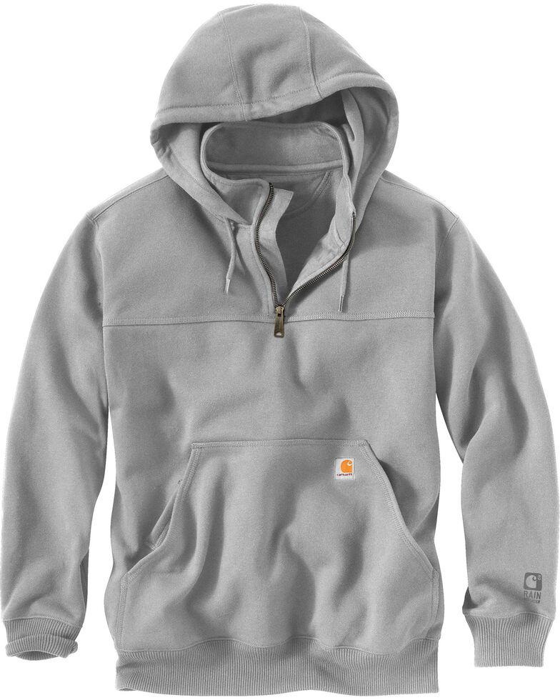 Carhartt Rain Defender Paxton Hooded Zip Mock Sweatshirt, Hthr Grey, hi-res