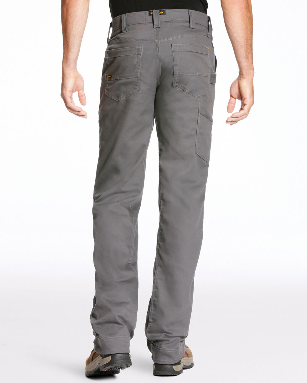 Ariat Men's Rebar M4 Stretch Canvas Utility Straight Leg Pants - Big, Light Grey, hi-res