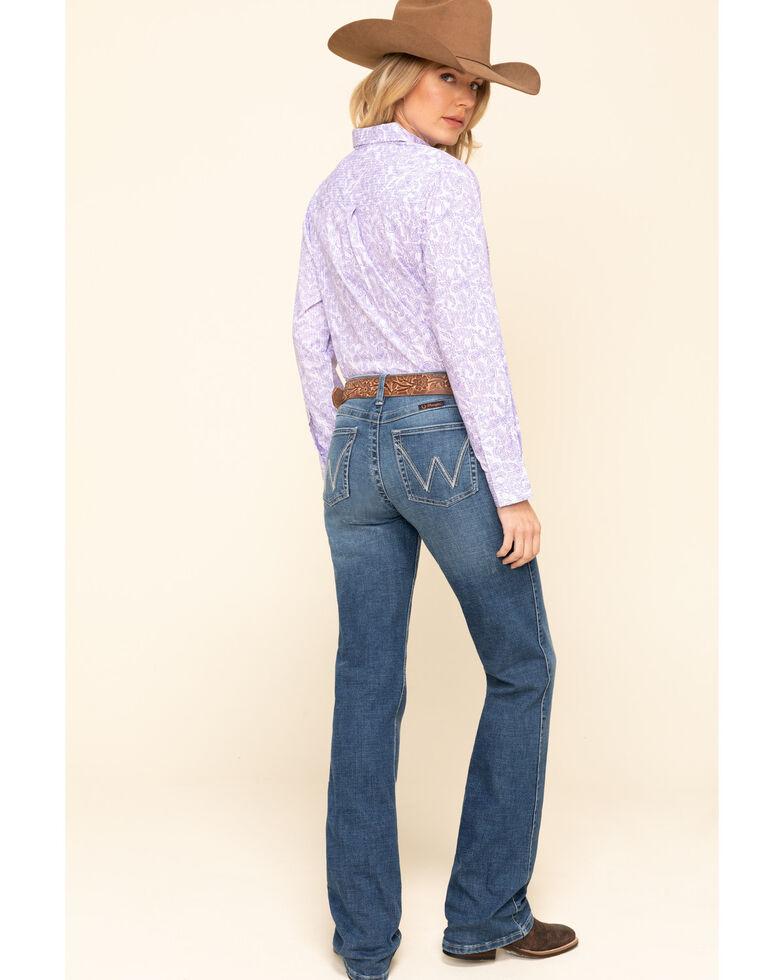 Wrangler Women's Q-Baby Nicole Bootcut Riding Jeans, Blue, hi-res