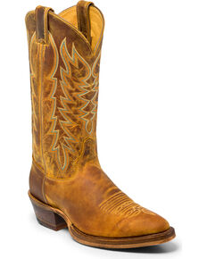 Justin Men's Keaton Western Boots, Brown, hi-res