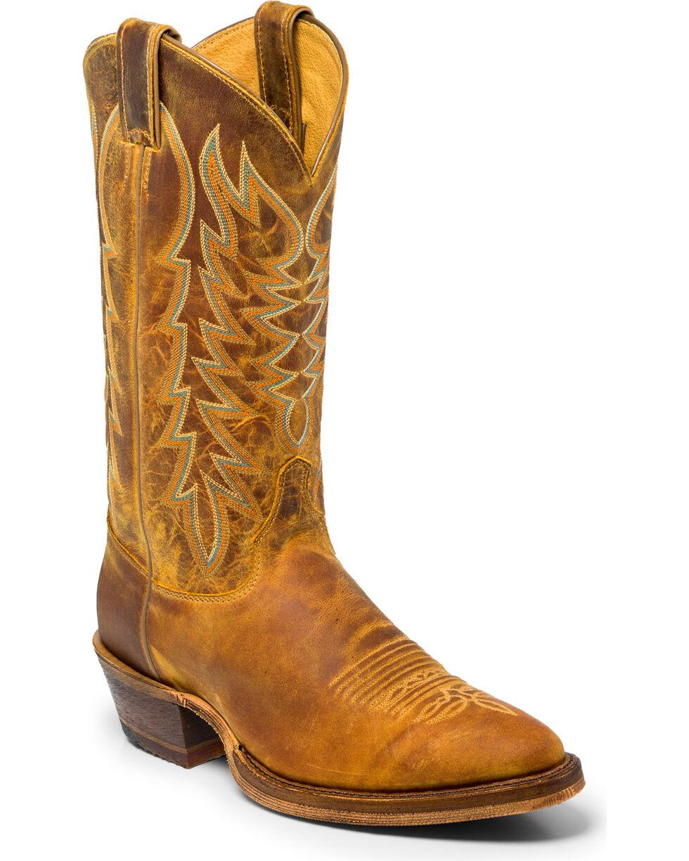 Justin Men's Keaton Western Boots, Brown, hi-res