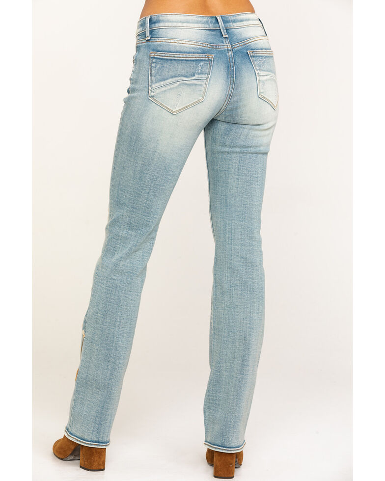 Driftwood Women's Light Wash Kelly Embroidered Foliage Jeans, Blue, hi-res