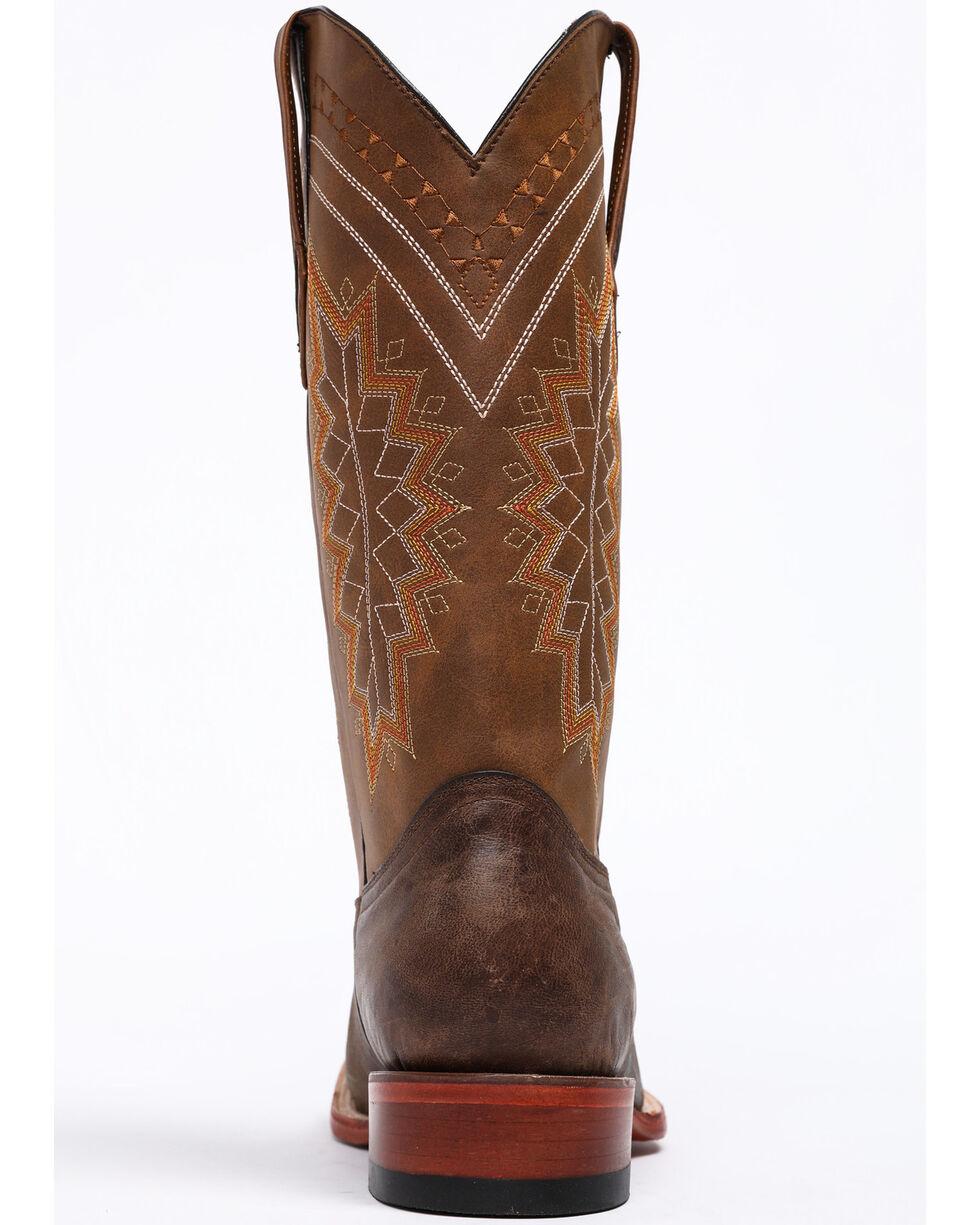 Ferrini Men's Kangaroo Western Boots - Wide Square Toe, Chocolate, hi-res